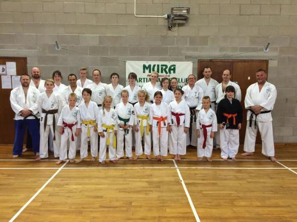 Karate April grade.